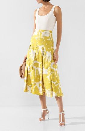 Женские кожаные босоножки KITON белого цвета, арт. D49818X08S71 | Фото 2 (Подошва: Плоская; Материал внутренний: Натуральная кожа; Каблук тип: Шпилька; Каблук высота: Высокий)