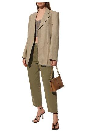 Женские кожаные босоножки BOTTEGA VENETA черного цвета, арт. 608835/VBSF0 | Фото 2