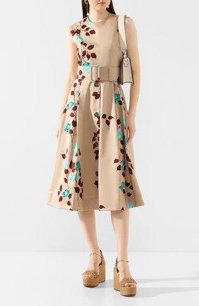 Женские кожаные босоножки CASADEI бежевого цвета, арт. 1L583P0801C0616A553 | Фото 2