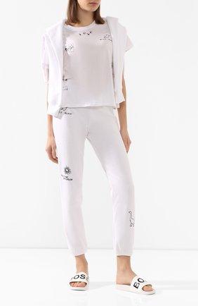 Женские шлепанцы logo BOSS белого цвета, арт. 50425631 | Фото 2