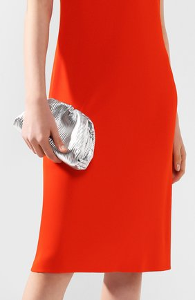 Женский клатч pouch 20 BOTTEGA VENETA серебряного цвета, арт. 585852/VCQ60 | Фото 2