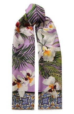 Мужские шарф DOLCE & GABBANA сиреневого цвета, арт. FS184A/GDU75 | Фото 1