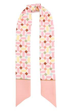 Мужские шелковый шарф-бандо zellige LORO PIANA розового цвета, арт. FAL1441 | Фото 1