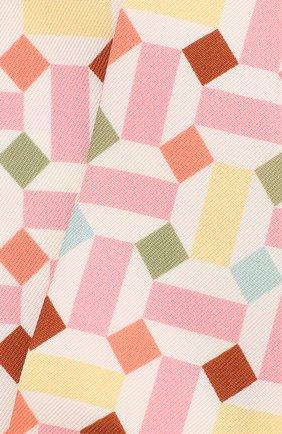 Мужские шелковый шарф-бандо zellige LORO PIANA розового цвета, арт. FAL1441 | Фото 2