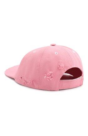 Женская хлопковая бейсболка OFF-WHITE розового цвета, арт. 0WLB011S20FAB0013001 | Фото 2