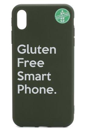 Мужской чехол для iphone xs max MISHRABOO зеленого цвета, арт. Gluten free Xs Max | Фото 1