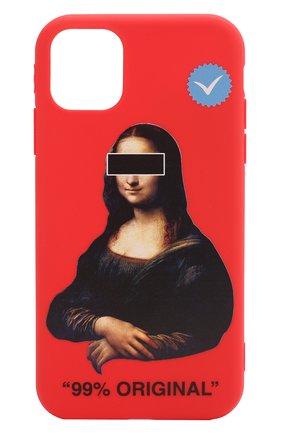 Мужской чехол для iphone 11 MISHRABOO красного цвета, арт. Mona Lisa 11 | Фото 1