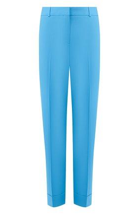 Женские хлопковые брюки BOSS бирюзового цвета, арт. 50427795 | Фото 1