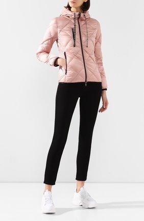 Женский пуховая куртка oulx MONCLER розового цвета, арт. F1-093-1A536-00-C0381 | Фото 2