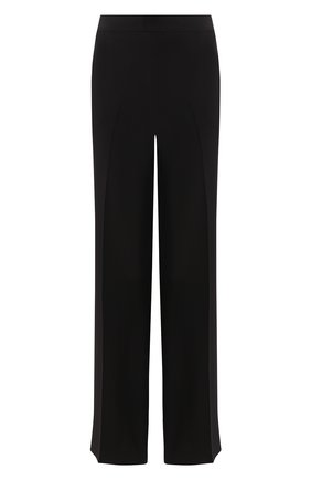 Женские шелковые брюки KITON черного цвета, арт. D49128K09S67 | Фото 1