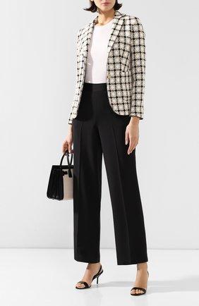 Женские шелковые брюки KITON черного цвета, арт. D49128K09S67 | Фото 2