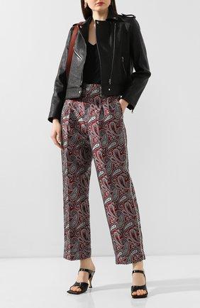 Женские брюки GOLDEN GOOSE DELUXE BRAND бордового цвета, арт. G36WP017.A4 | Фото 2