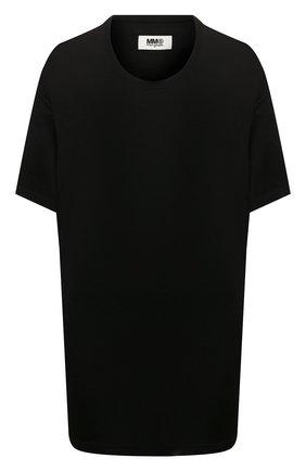 Женская футболка из вискозы MM6 черного цвета, арт. S52GC0147/S23387 | Фото 1