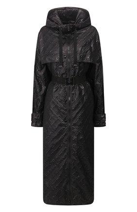 Женский плащ c поясом MONCLER черного цвета, арт. F1-093-1D705-00-C0475 | Фото 1
