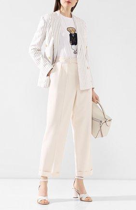 Женские шерстяные брюки  RALPH LAUREN кремвого цвета, арт. 290797950 | Фото 2