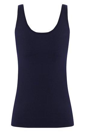 Женская шелковый топ RALPH LAUREN синего цвета, арт. 290799701 | Фото 1