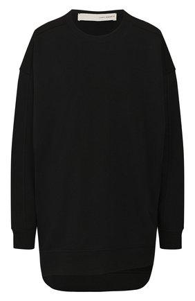 Женская хлопковый пуловер  ISABEL BENENATO черного цвета, арт. DJ16S20 | Фото 1