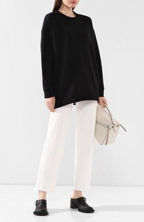 Женская хлопковый пуловер  ISABEL BENENATO черного цвета, арт. DJ16S20 | Фото 2
