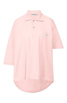Женское хлопковое поло LANVIN светло-розового цвета, арт. RW-T0612J-JG01-E20 | Фото 1