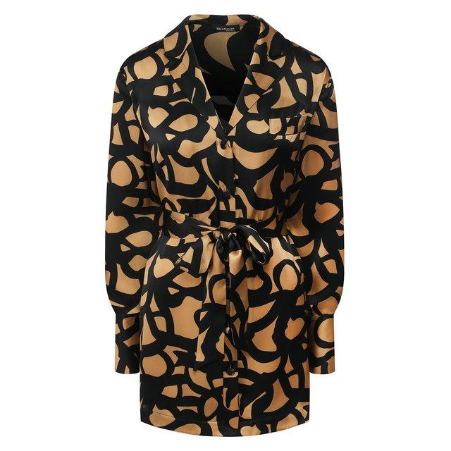 Шелковая блузка с поясом Kiton