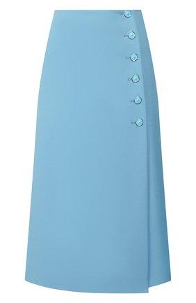 Женская шерстяная юбка MARC JACOBS RUNWAY голубого цвета, арт. W1000011   Фото 1