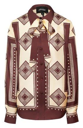 Женская шелковая блузка MARC JACOBS RUNWAY коричневого цвета, арт. W6000040   Фото 1