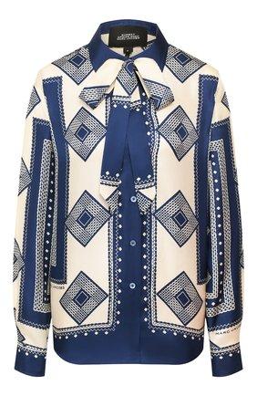 Женская шелковая блузка MARC JACOBS RUNWAY темно-синего цвета, арт. W6000040   Фото 1