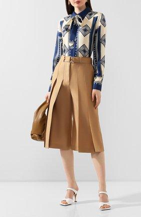 Женская шелковая блузка MARC JACOBS RUNWAY темно-синего цвета, арт. W6000040   Фото 2