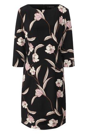 Женское шелковое платье ST. JOHN черного цвета, арт. K11ZW31 | Фото 1