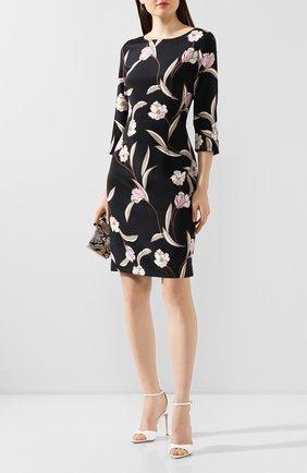 Женское шелковое платье ST. JOHN черного цвета, арт. K11ZW31 | Фото 2