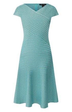 Женское платье из смеси вискозы и шерсти ST. JOHN бирюзового цвета, арт. K12Z0F1 | Фото 1