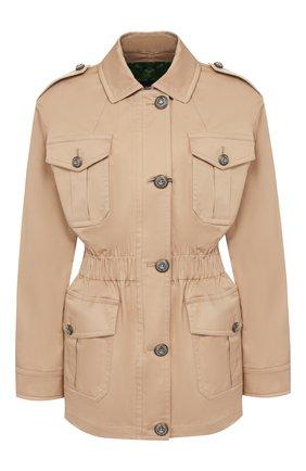 Женская хлопковая куртка  DOLCE & GABBANA бежевого цвета, арт. F28UBT/FUFJ6 | Фото 1