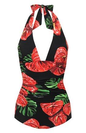 Женский слитный купальник  DOLCE & GABBANA красного цвета, арт. 09A06J/FSGTP | Фото 1