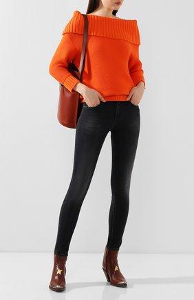 Женские джинсы JACOB COHEN черного цвета, арт. KIMBERLY CR0P 01792-W1/53 | Фото 2