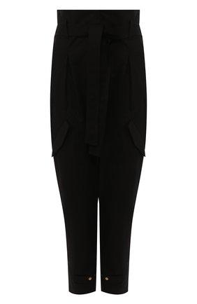 Женские хлопковые брюки  DOROTHEE SCHUMACHER черного цвета, арт. 743103/DESERT ADVENTURES | Фото 1