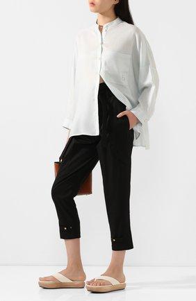 Женские хлопковые брюки  DOROTHEE SCHUMACHER черного цвета, арт. 743103/DESERT ADVENTURES | Фото 2