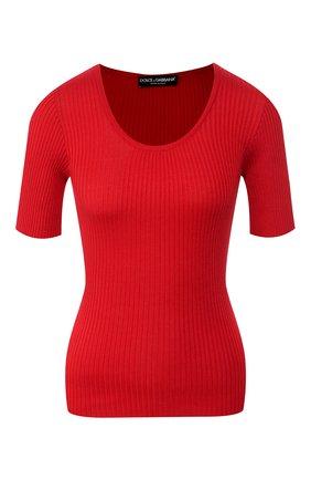 Женская шелковый пуловер DOLCE & GABBANA красного цвета, арт. FX803T/JASMH | Фото 1