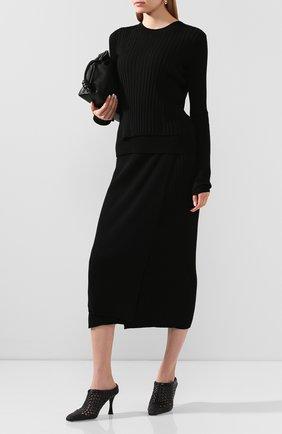 Женская юбка из смеси вискозы и шерсти HELMUT LANG черного цвета, арт. K01HW706 | Фото 2