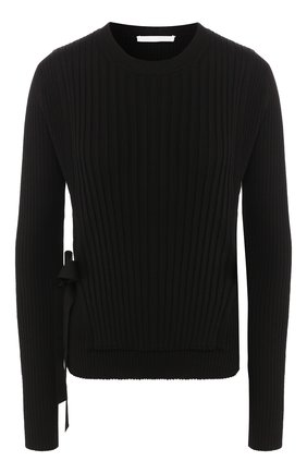 Женская пуловер из смеси вискозы и шерсти HELMUT LANG черного цвета, арт. K01HW705 | Фото 1
