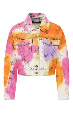 Женская джинсовая куртка VERSACE разноцветного цвета, арт. A85683/A228455 | Фото 1