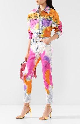 Женская джинсовая куртка VERSACE разноцветного цвета, арт. A85683/A228455 | Фото 2