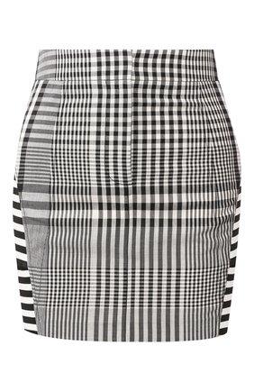 Женская мини-юбка BURBERRY черно-белого цвета, арт. 4564501 | Фото 1