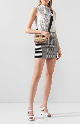 Женская мини-юбка BURBERRY черно-белого цвета, арт. 4564501 | Фото 2