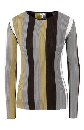 Женская хлопковый пуловер LOEWE хаки цвета, арт. S540333XB0 | Фото 1