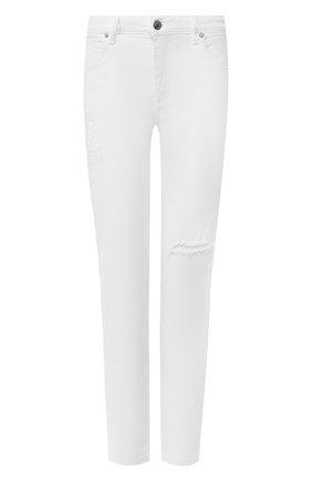 Женские джинсы ERMANNO ERMANNO SCERVINO белого цвета, арт. 46T JL16 NEV   Фото 1