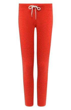 Женские брюки из смеси вискозы и хлопка MONROW оранжевого цвета, арт. HB006AFT | Фото 1