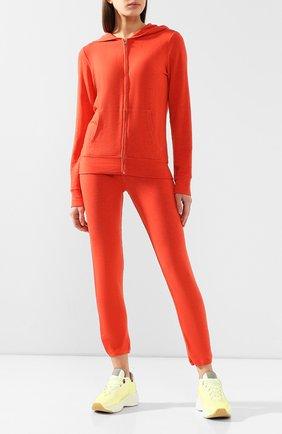 Женские брюки из смеси вискозы и хлопка MONROW оранжевого цвета, арт. HB006AFT | Фото 2