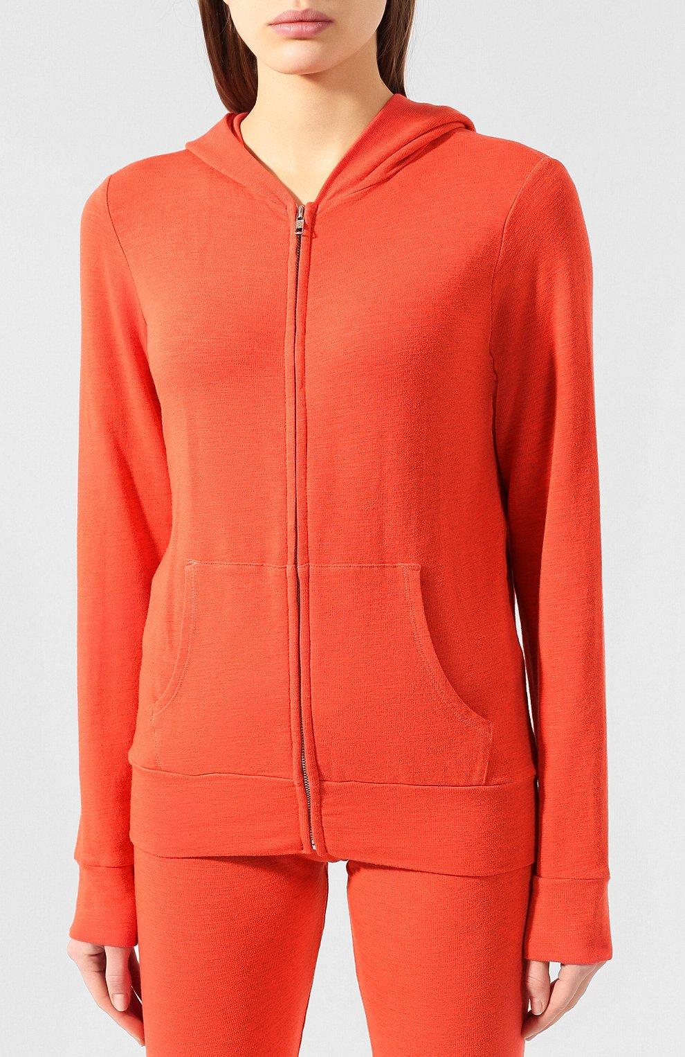 Женский толстовка MONROW оранжевого цвета, арт. HJ321AFT   Фото 3