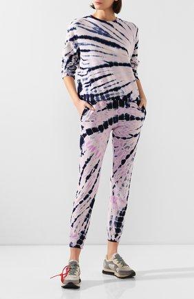 Женские хлопковые джоггеры MONROW фиолетового цвета, арт. HB0448-12 | Фото 2