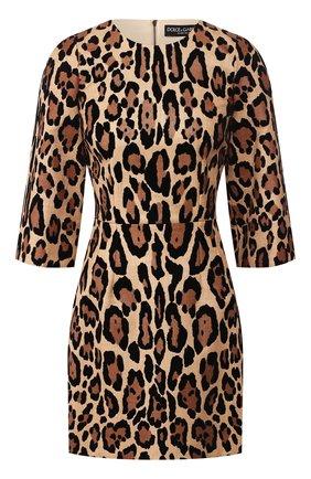 Женское мини-платье DOLCE & GABBANA леопардового цвета, арт. F6J1CT/HHMXM | Фото 1